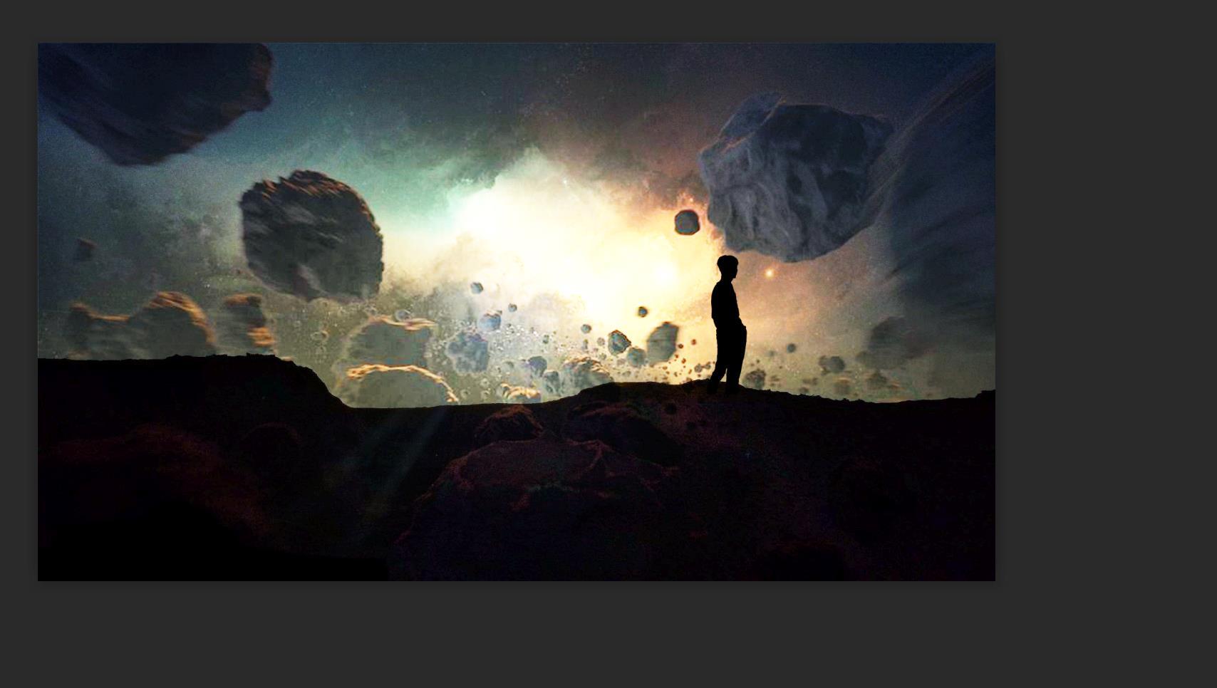 一款比较不错的宇宙天涯海角PSD源码 PSD图片源码 第1张