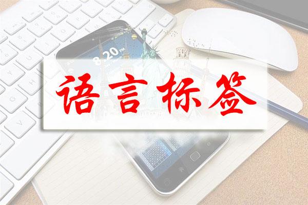 网站优化之页面语言标签的正确使用方法