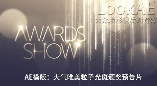 AE模板-大气唯美粒子光斑公司企业年会活动婚礼晚会颁奖预告片头 Awards Show v2.5