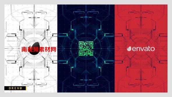 AE模板-未来数码科技LOGO演绎片头 Future HUD Opening