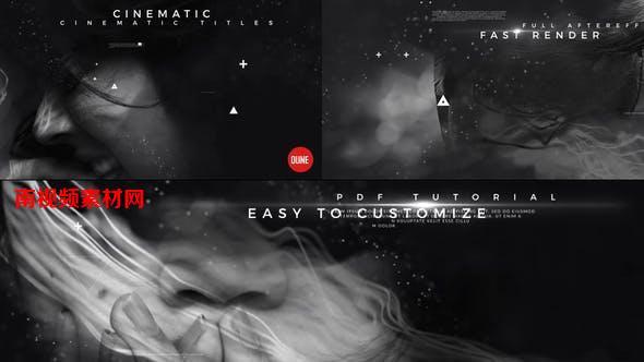 AE模板-动作影视图文介绍开场文字标题动画 Cinematic Titles V3