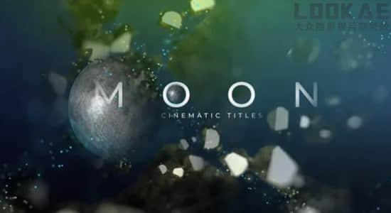 AE模板-神奇太空地球行星文字标题片头开场 Fantastic Moon Movie Titles插图