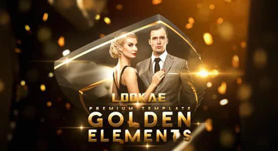 AE模板-时尚金色高端奢华粒子图文展示介绍开场 Golden Elements插图