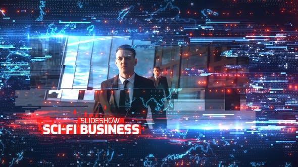 AE模板-未来数字科幻公司企业商务图文展示介绍开场 Sci-Fi Business Slideshow