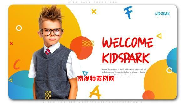 AE模板-现代时尚可爱儿童乐园图文展示 Kids Park Promotion