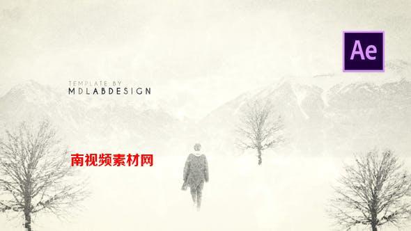 AE模板-创意黑白素描怀旧风格图文展示动画 Litera – Film Titles