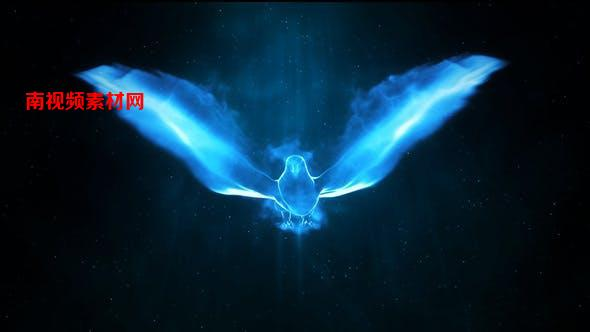 AE模板-粒子飞鸟LOGO标志展示片头 Magic Bird Logo